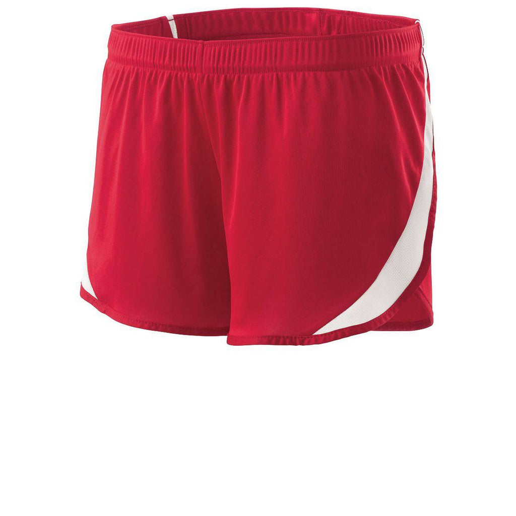 Holloway 221347 Ladies Lead Short - Scarlet White - HIT A Double