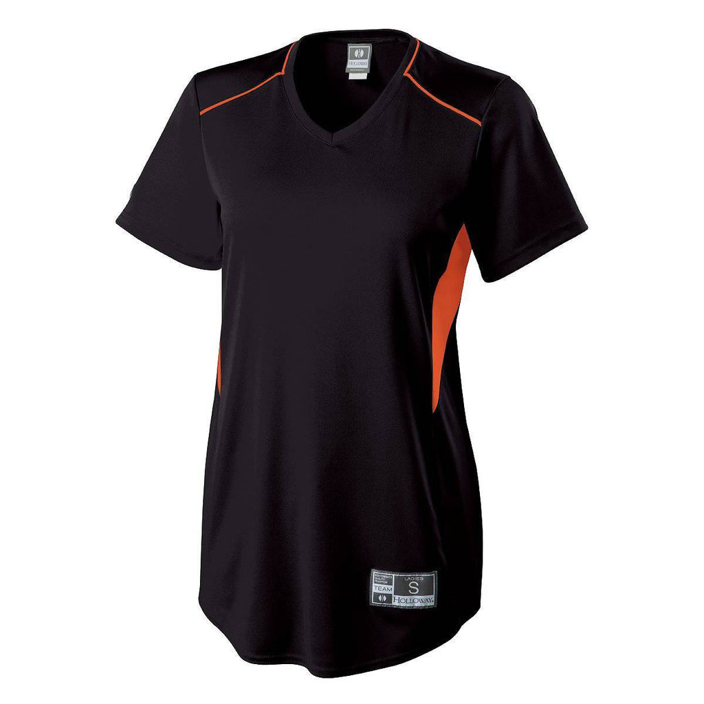 Holloway 221459 Girls Rematch Jersey - Black Orange - HIT A Double