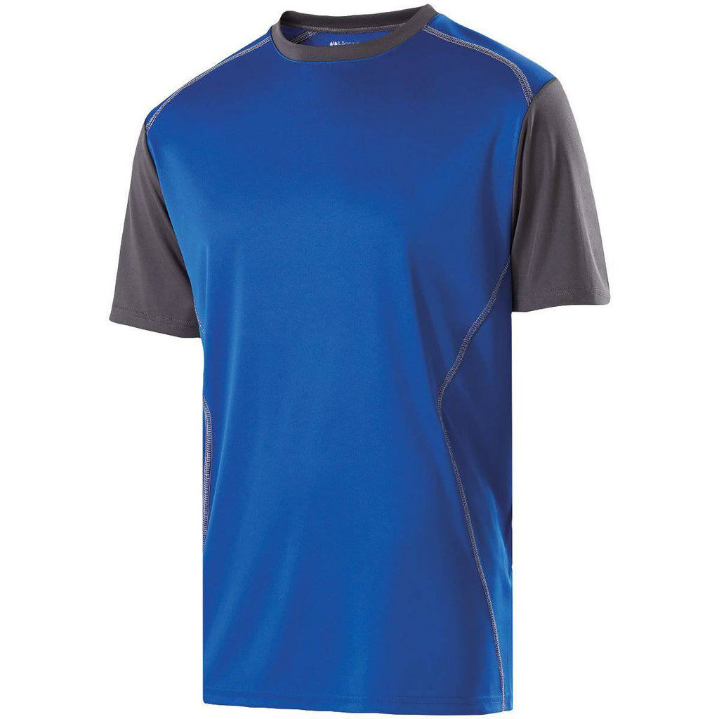 Holloway 222201 Youth Piston Shirt - Royal Carbon - HIT A Double
