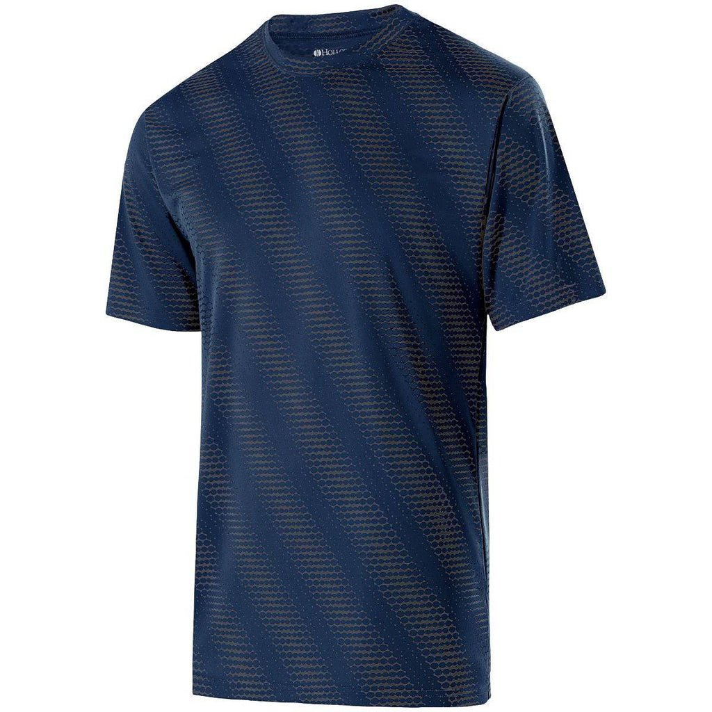 Holloway 222203 Youth Short Sleeve Torpedo Shirt - Navy Carbon - HIT A Double