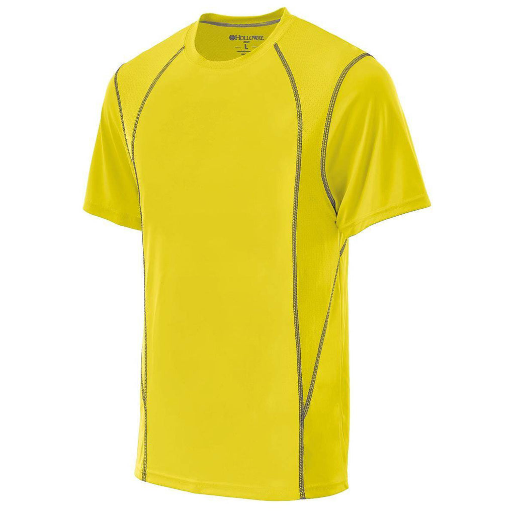 Holloway 222210 Youth Devote Shirt - Bright Yellow Graphite - HIT A Double