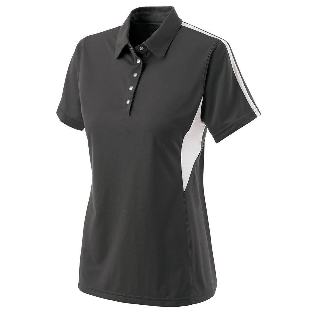 Holloway 222308 Ladies Shark Bite Polo - Graphite White - HIT A Double