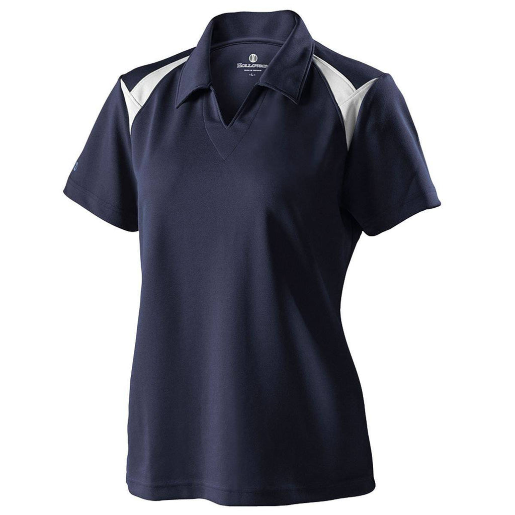 Holloway 222346 Ladies Laser Polo - Navy White - HIT A Double