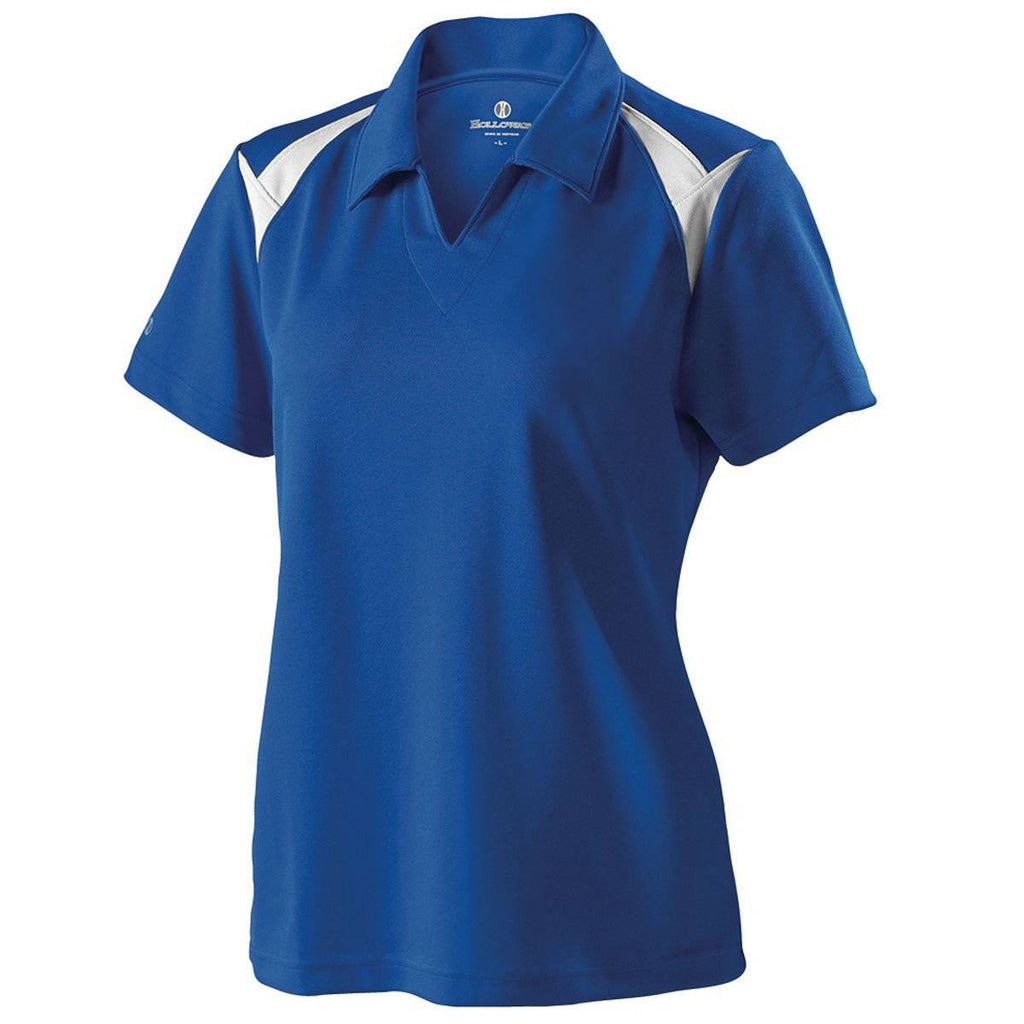 Holloway 222346 Ladies Laser Polo - Royal White - HIT A Double