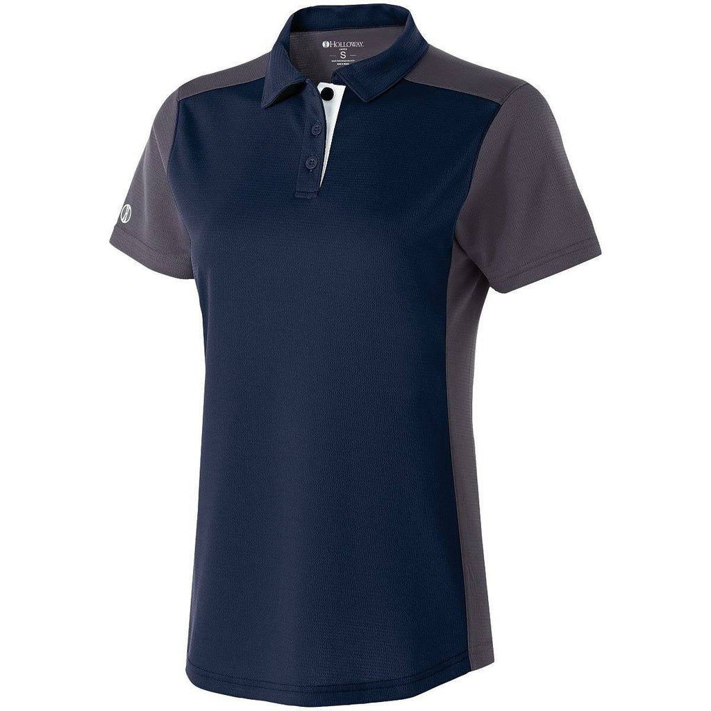 Holloway 222386 Ladies Division Polo - Navy Carbon White - HIT A Double