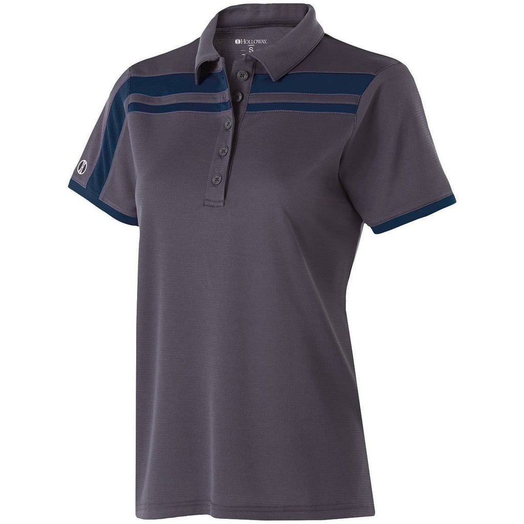 Holloway 222387 Ladies Charge Polo - Carbon Navy - HIT A Double