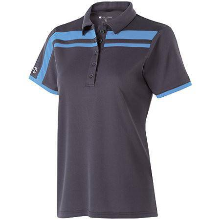 Holloway 222387 Ladies Charge Polo - Carbon University Blue - HIT A Double