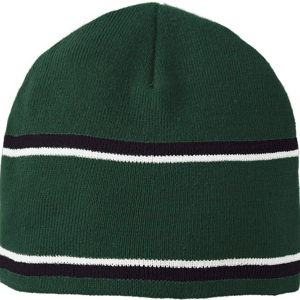 Holloway 223832 Engager Beanie - Forest Black White - HIT A Double