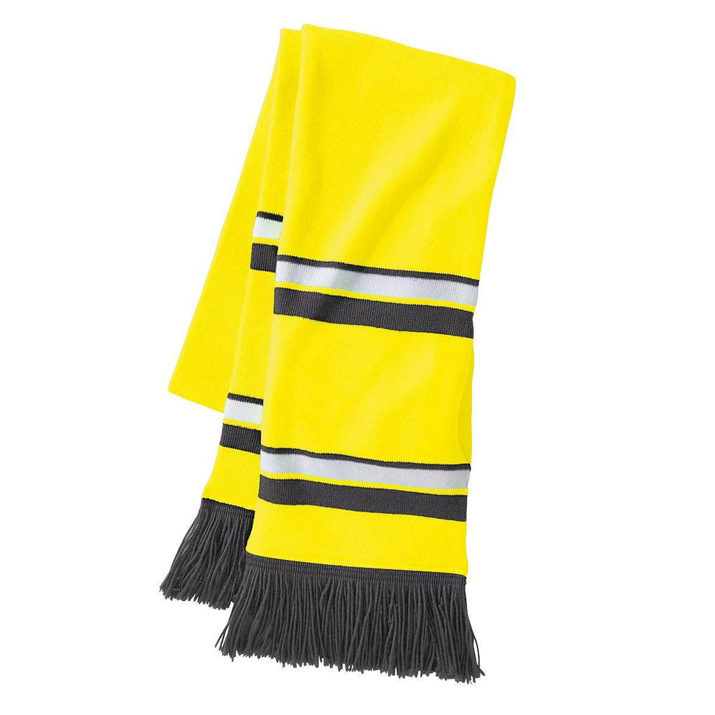 Holloway 223836 Comeback Scarf - Bright Yellow White Graphite - HIT A Double
