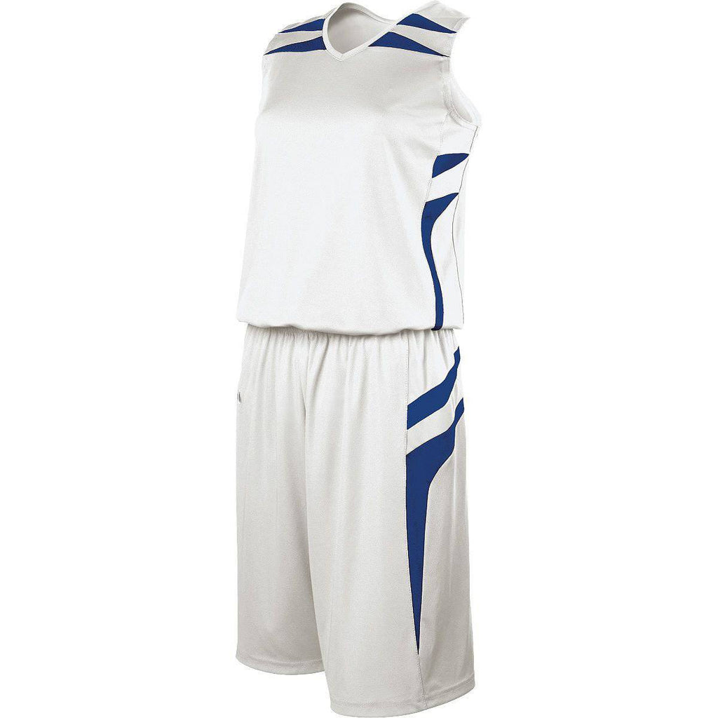 Holloway 224364 Ladies Prodigy Jersey - White Royal Royal - HIT A Double