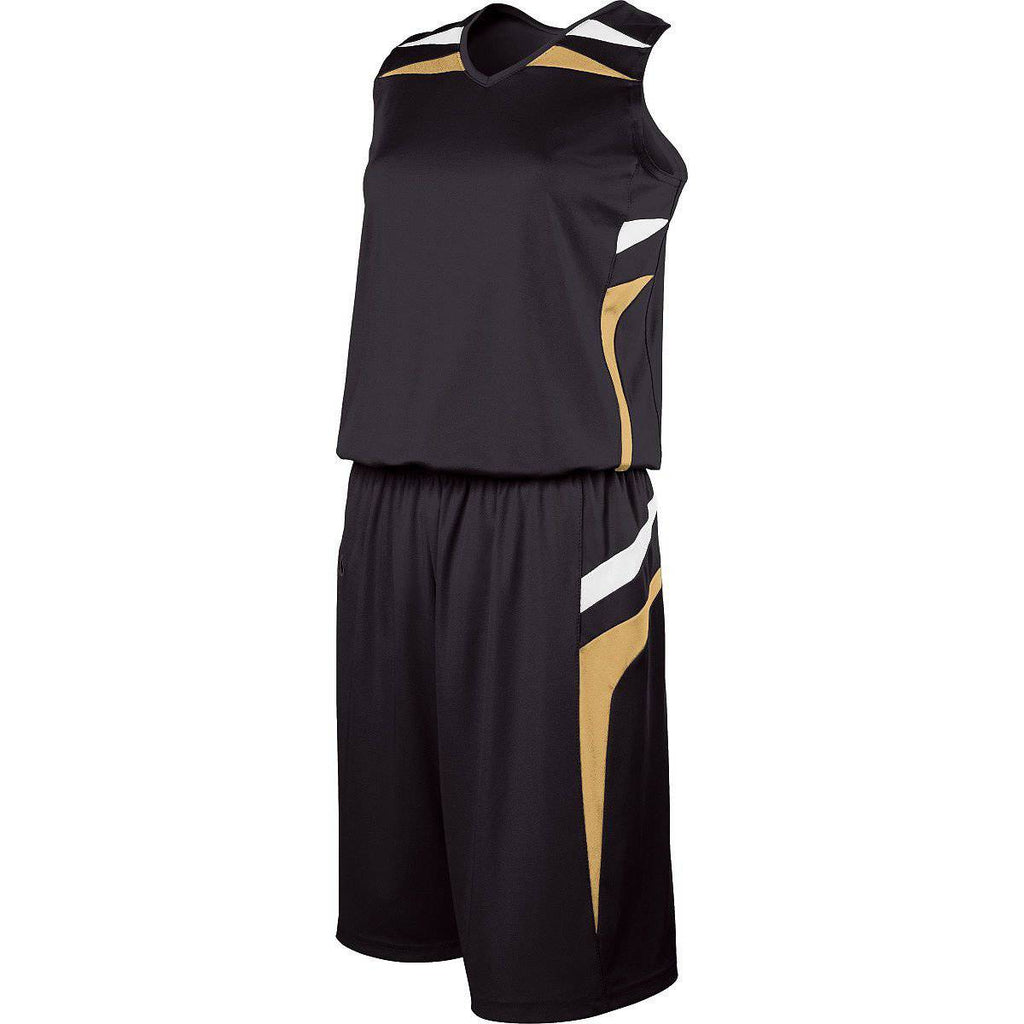 Holloway 224365 Ladies Prodigy Short - Black Vegas Gold White - HIT A Double