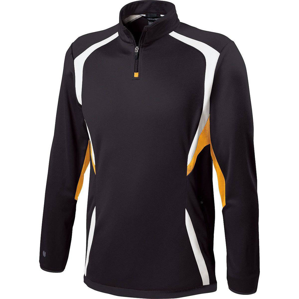 Holloway 229037 Adult Transform Pullover - Black Light Gold White