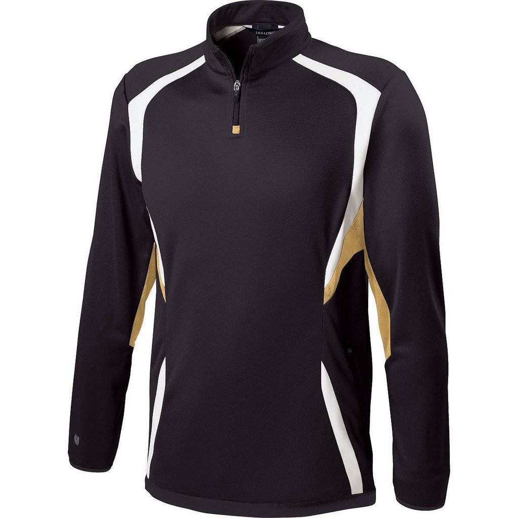 Holloway 229037 Adult Transform Pullover - Black Vegas Gold White - HIT A Double