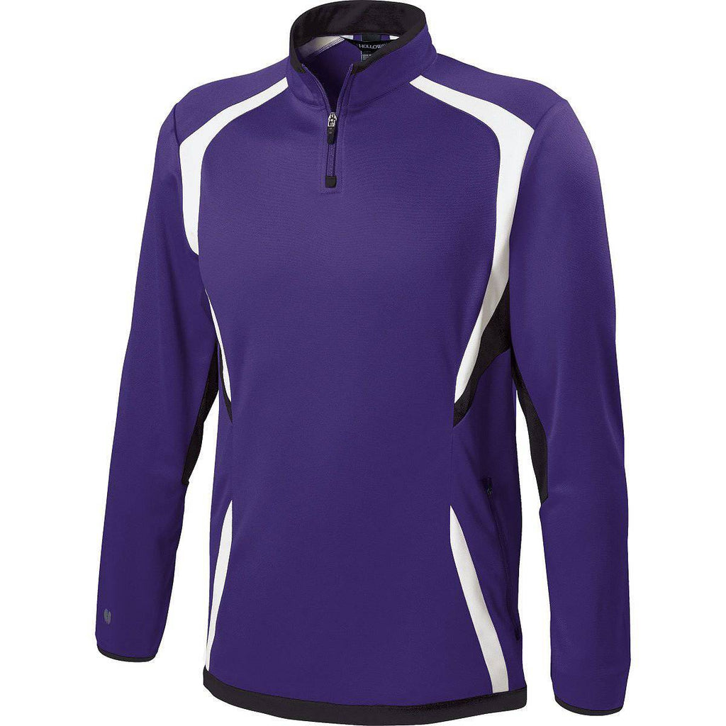 Holloway 229037 Adult Transform Pullover - Purple Black White - HIT A Double