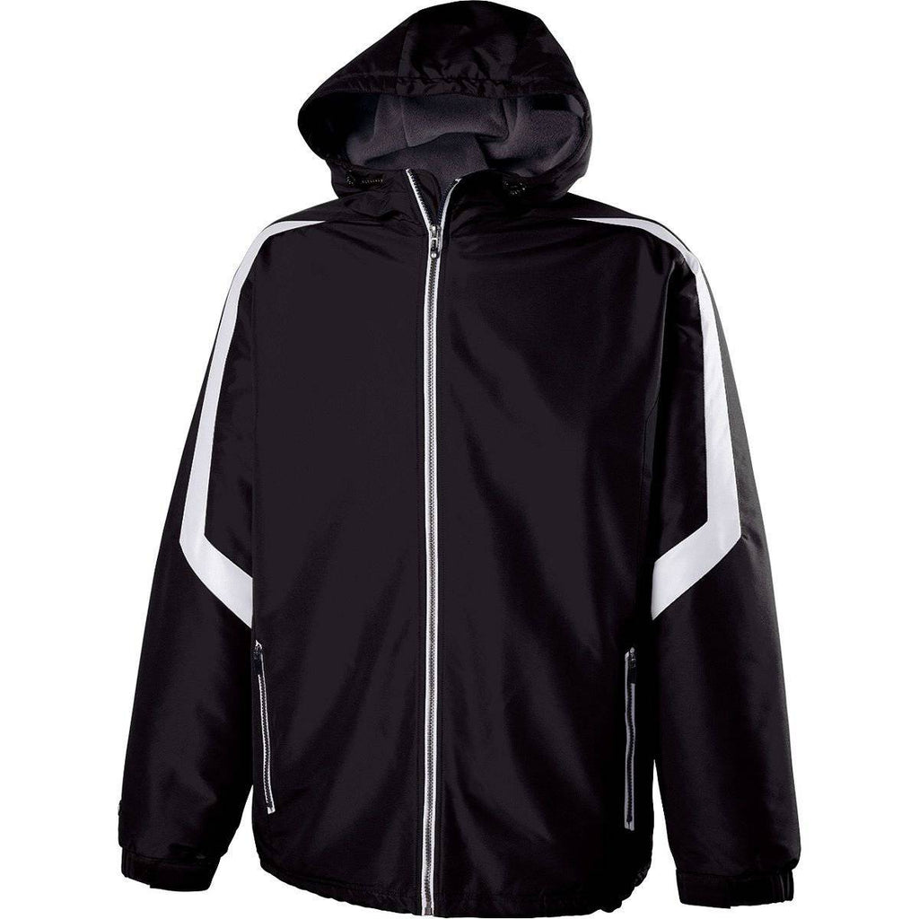 Holloway 229059 Charger Jacket - Black White - HIT A Double