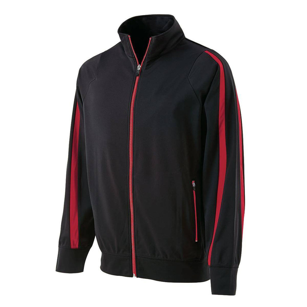 Holloway 229142 Determination Jacket - Black Scarlet - HIT A Double