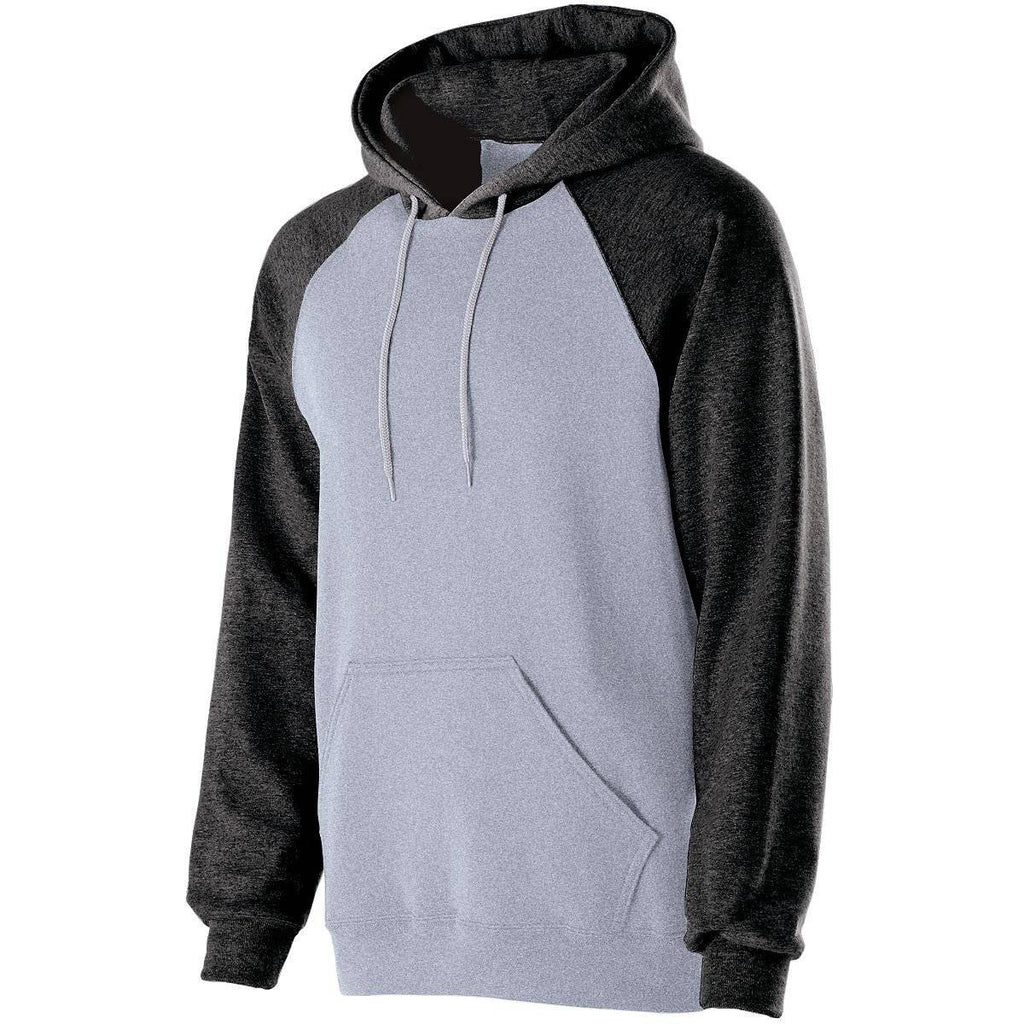 Holloway 229179 Banner Hoodie - Athletic Heather Black - HIT A Double