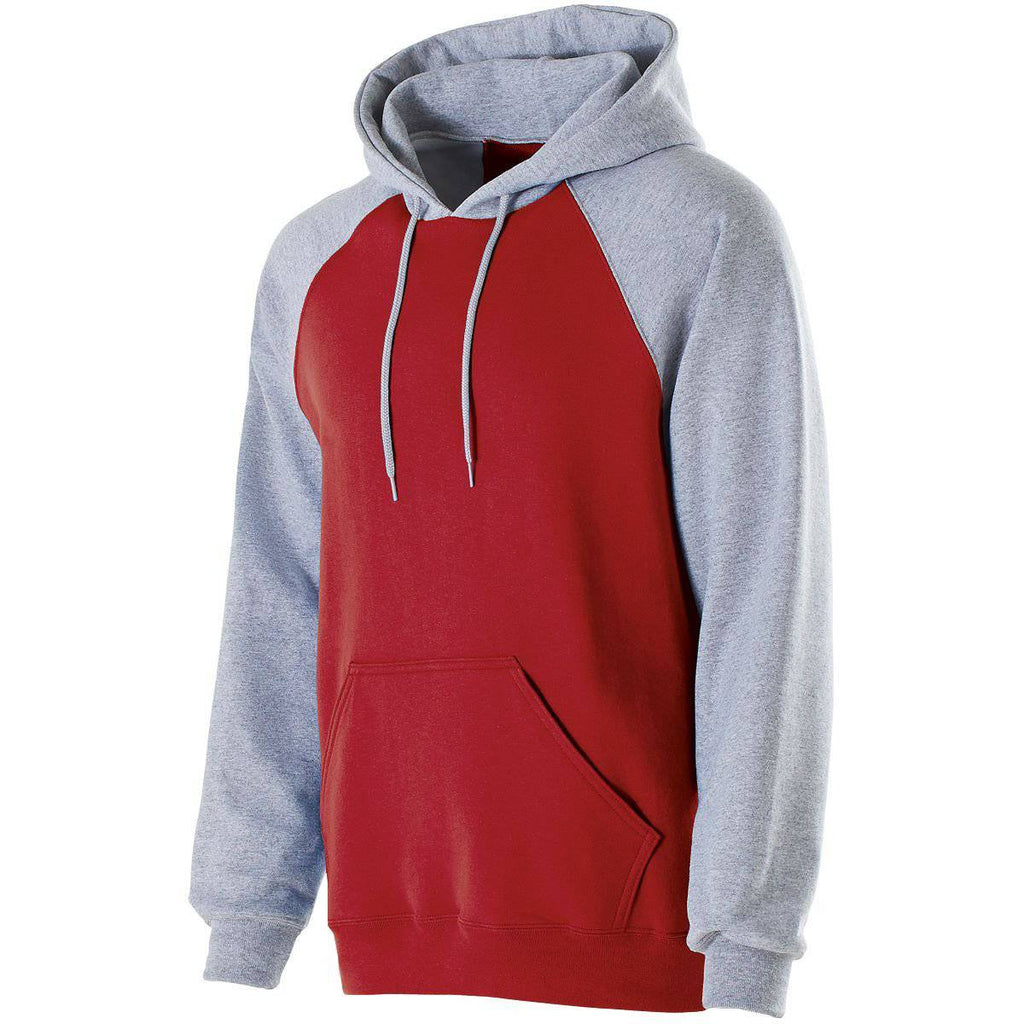 Holloway 229179 Banner Hoodie - Red Athletic Heather - HIT A Double