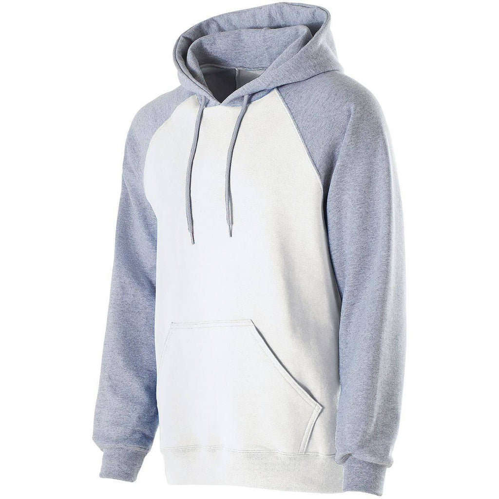 Holloway 229179 Banner Hoodie - White Athletic Heather - HIT A Double