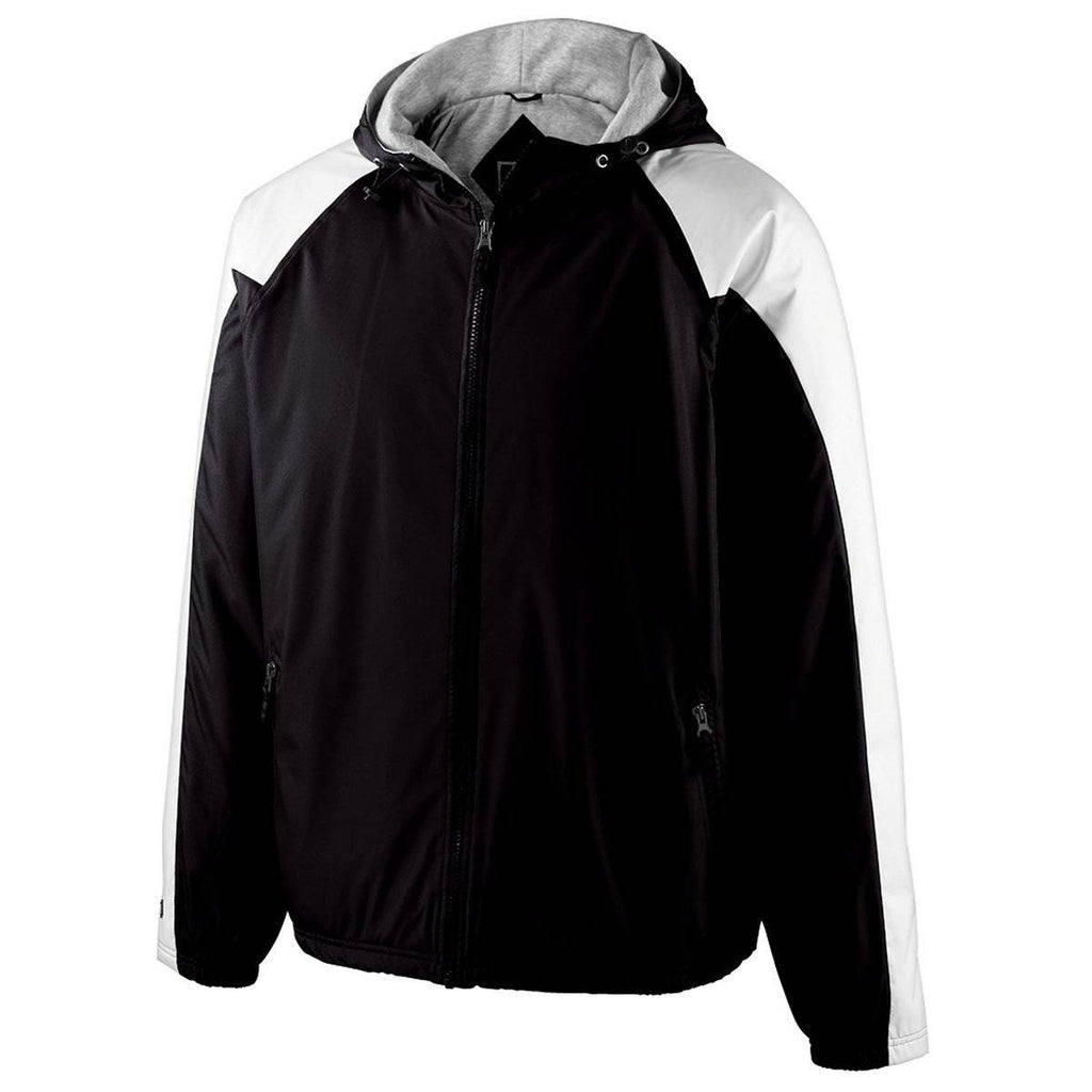 Holloway 229211 Youth Homefield Jacket - Black White - HIT A Double