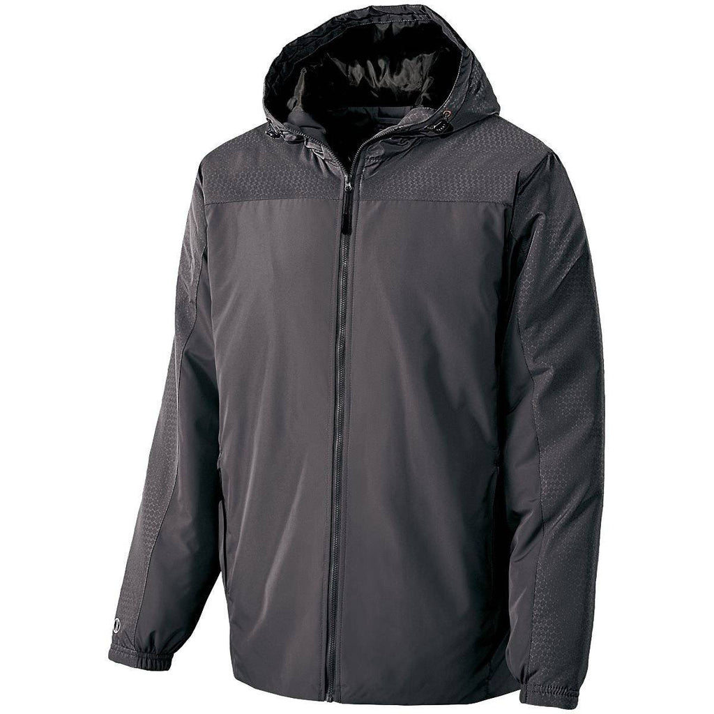 Holloway 229217 Youth Bionic Hooded Jacket - Carbon Black - HIT A Double