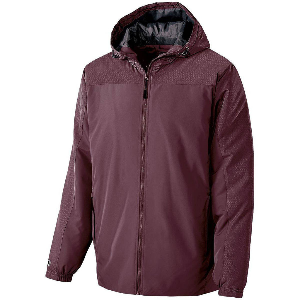 Holloway 229217 Youth Bionic Hooded Jacket - Maroon Carbon - HIT A Double