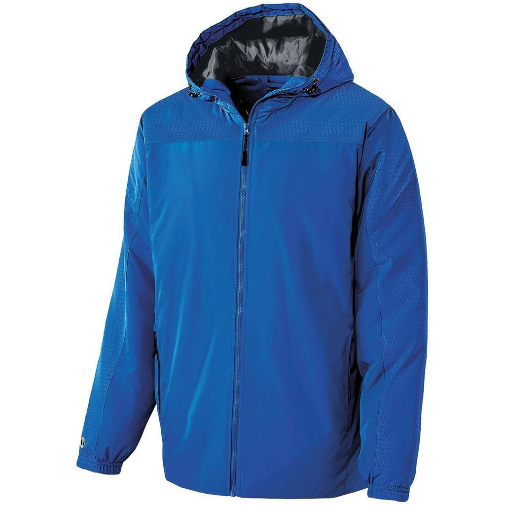 Holloway 229217 Youth Bionic Hooded Jacket - Royal Carbon - HIT A Double