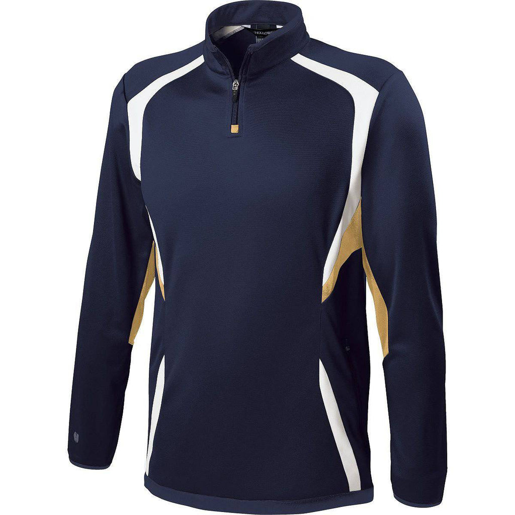 Holloway 229237 Youth Transform Pullover - Navy Vegas Gold White - HIT A Double