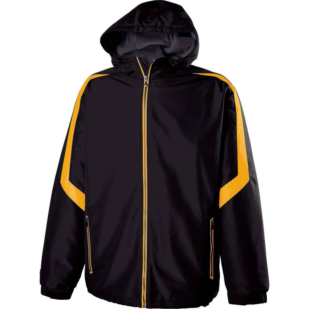 Holloway 229259 Youth Charger Jacket - Black Light Gold - HIT A Double