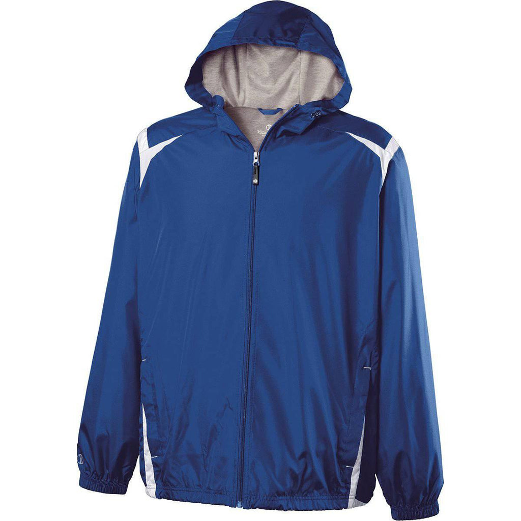 Holloway 229276 Youth Collision Jacket - Royal White - HIT A Double