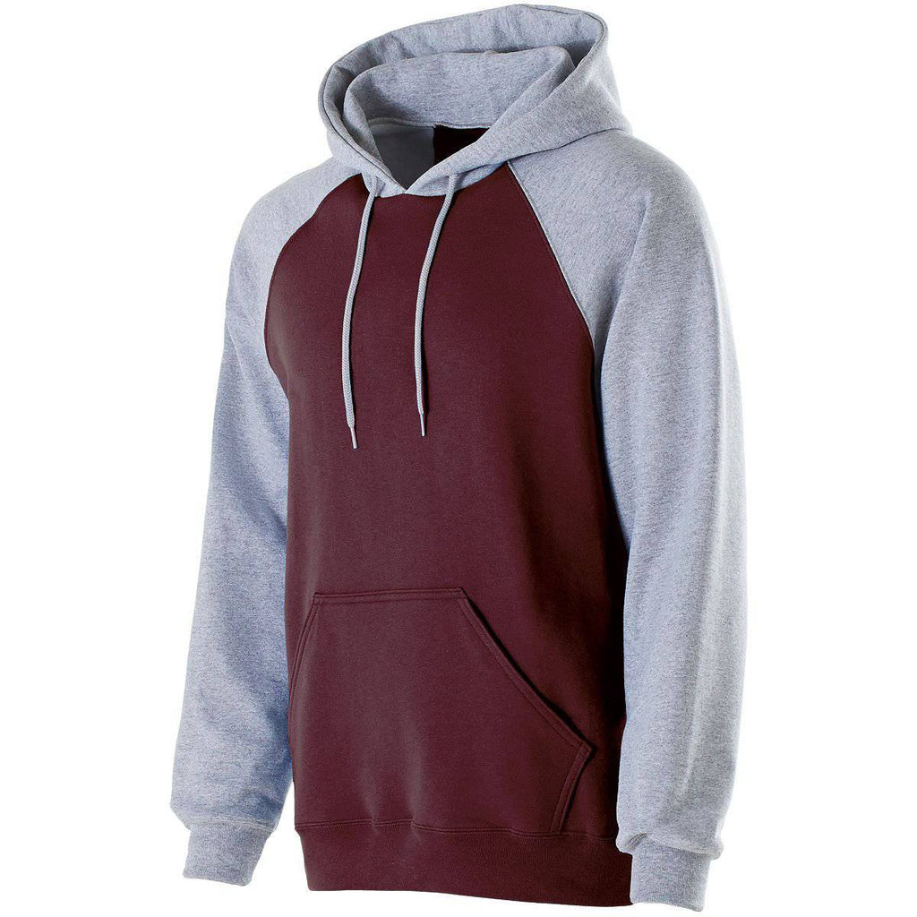 Holloway 229279 Youth Banner Hoodie - Maroon Athletic Heather - HIT A Double