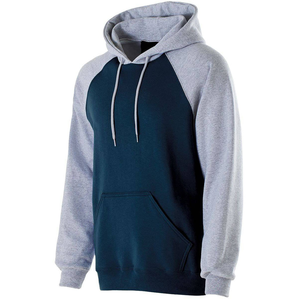 Holloway 229279 Youth Banner Hoodie - Navy Athletic Heather - HIT A Double