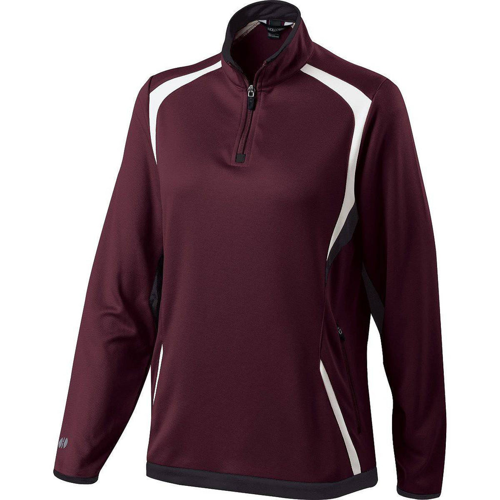 Holloway 229337 Ladies Transform Pullover - Maroon Black White - HIT A Double