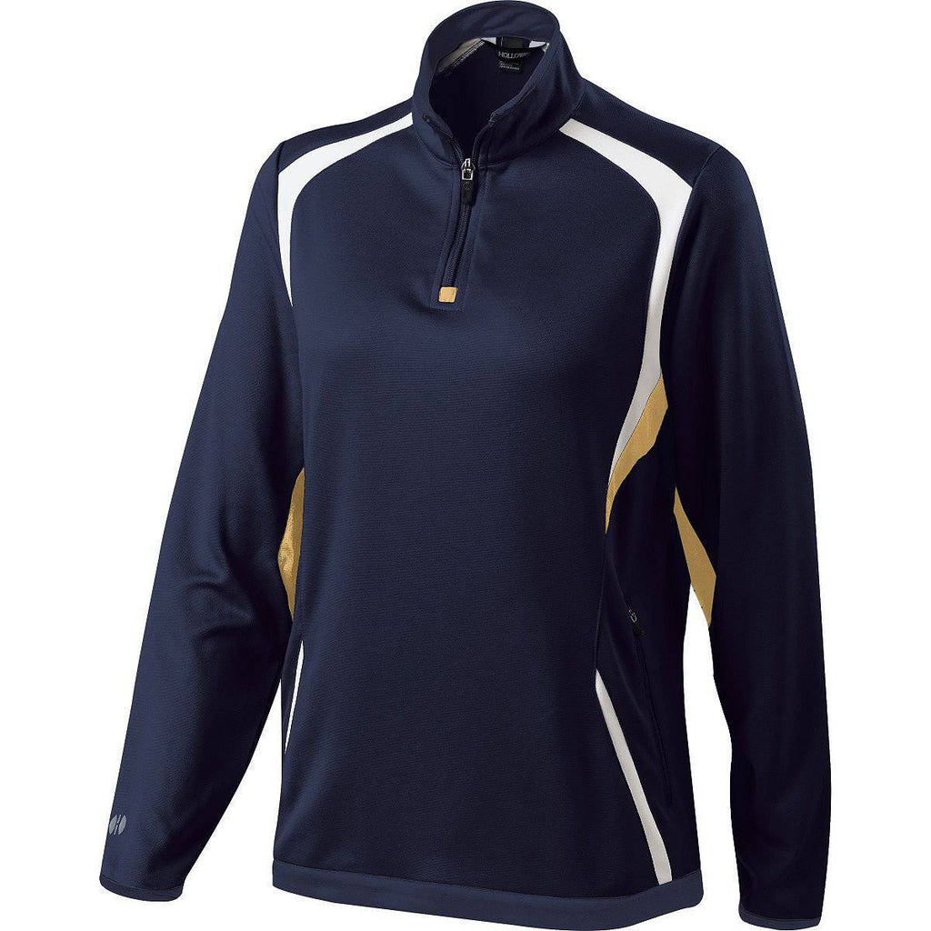 Holloway 229337 Ladies Transform Pullover - Navy Vegas Gold White