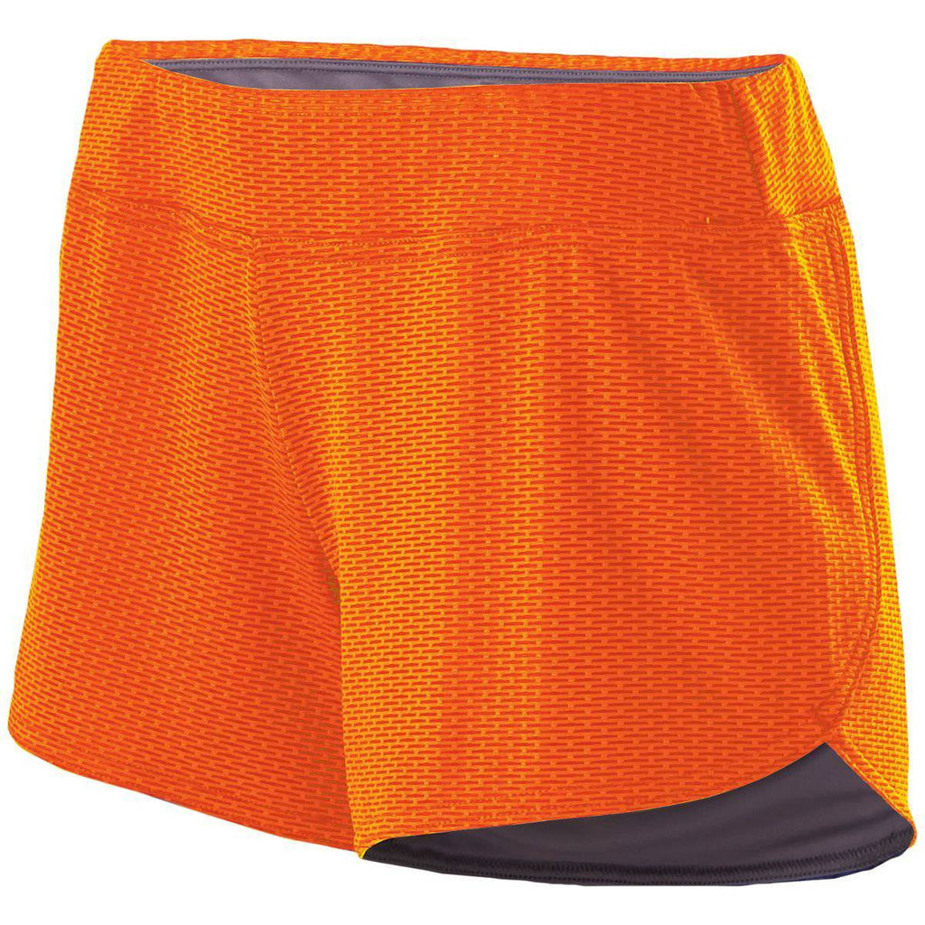 Holloway 229369 Ladies Boundary Short - Bright Orange Graphite - HIT A Double