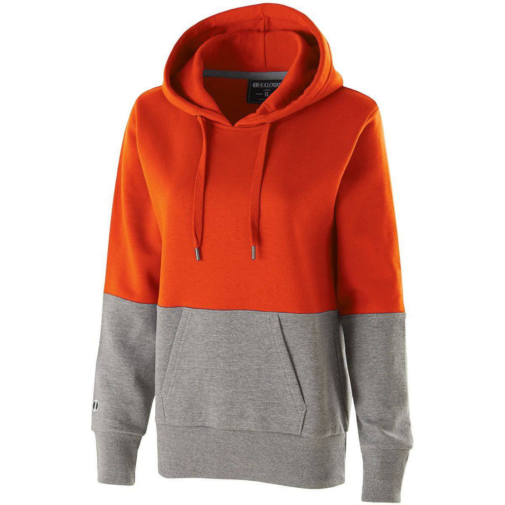 Holloway 229378 Ladies Ration Hoodie - Orange Charcoal Heather - HIT A Double