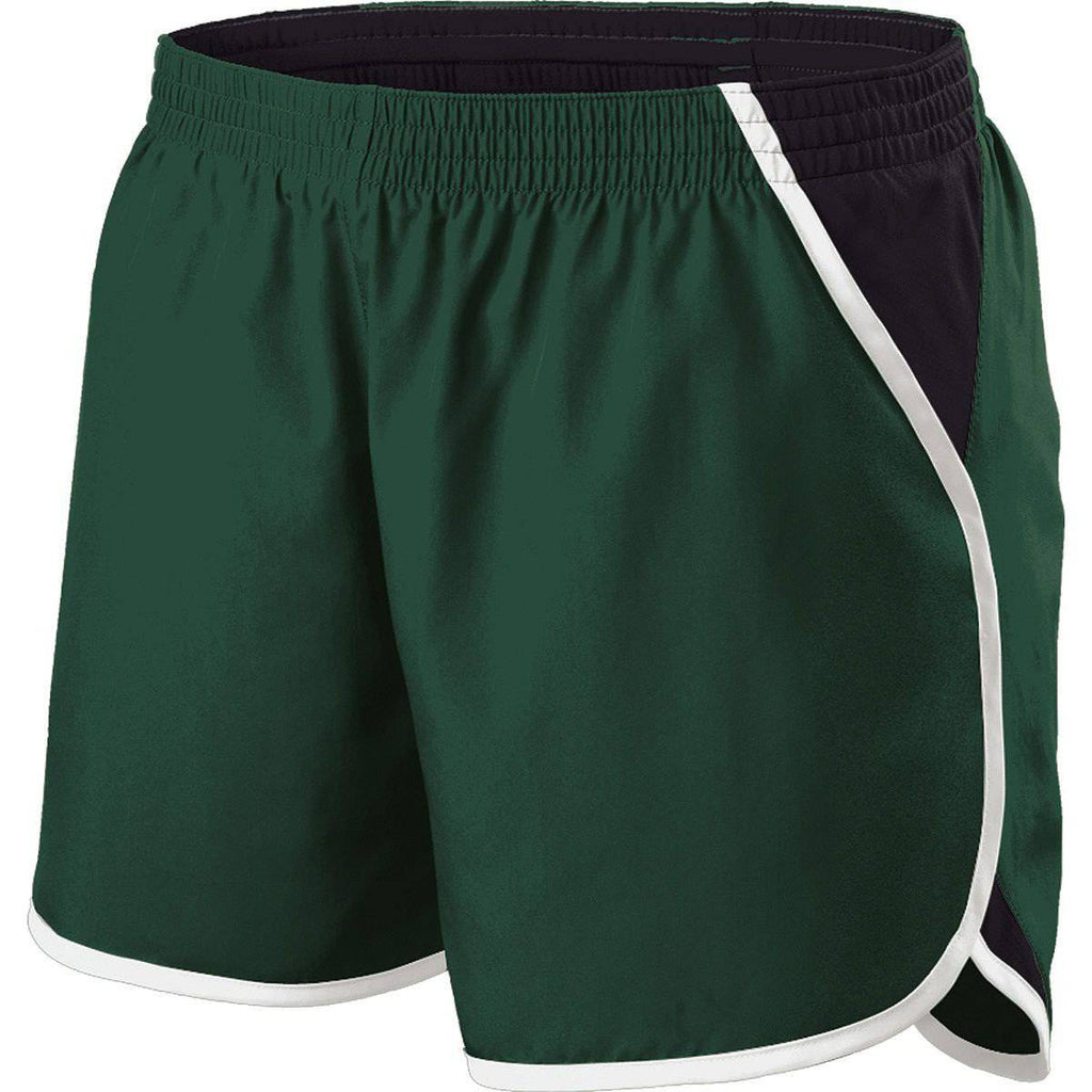 Holloway 229425 GirlS Energize Short - Forest Black White - HIT A Double