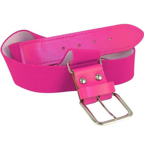 Twin City Adjustable Elastic Baseball Belts - Hot Pink - HIT A Double