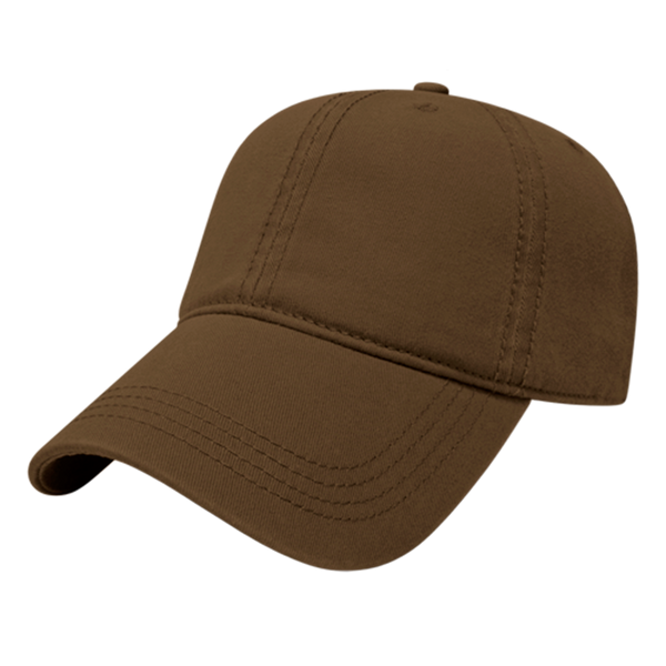 Cap America I1002-Relaxed Golf Cap - Brown