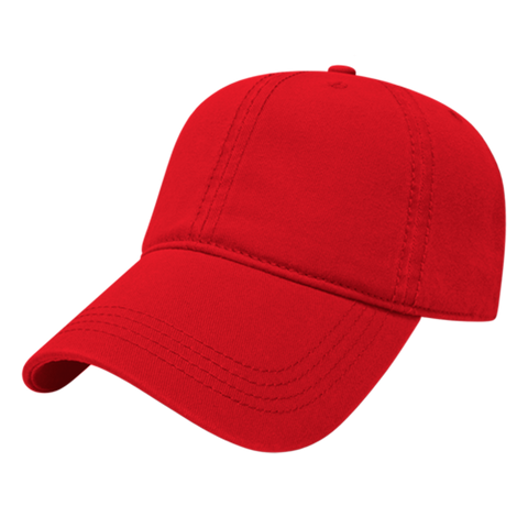 Cap America I1002-Relaxed Golf Cap - Red