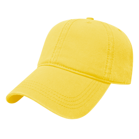 Cap America I1002-Relaxed Golf Cap - Yellow