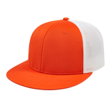 Cap America i8501 Flexfit Performance Trucker Mesh Back Cap - Orange White - HIT A Double