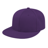 Cap America i8503 Flexfit Perforated Performance Cap - Purple - HIT A Double