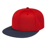 Cap America i8503 Flexfit Perforated Performance Cap - Red Navy - HIT A Double