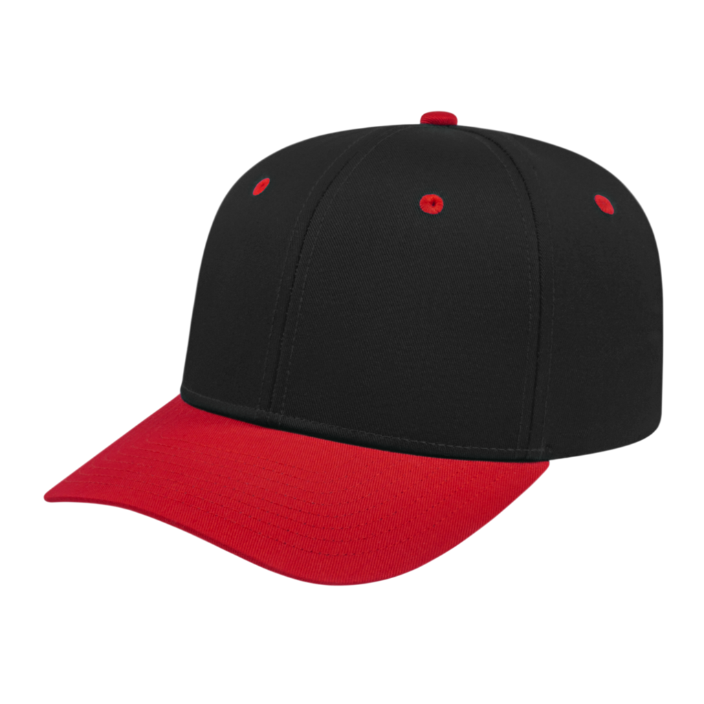 Cap America i8505 Original Poly/Cotton Snap Back Cap - Black Red - HIT A Double