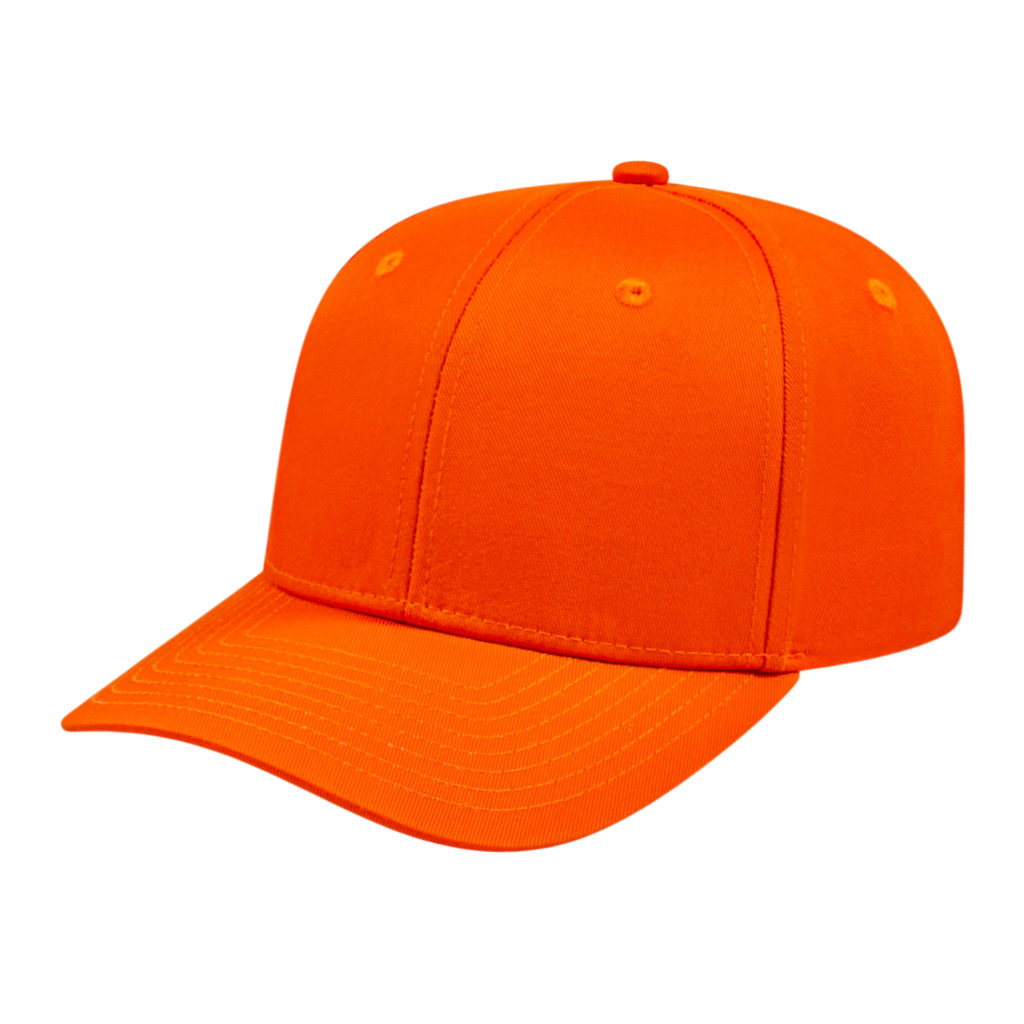 Cap America i8505 Original Poly/Cotton Snap Back Cap - Orange - HIT A Double