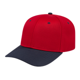 Cap America i8505 Original Poly/Cotton Snap Back Cap - Red Navy - HIT A Double