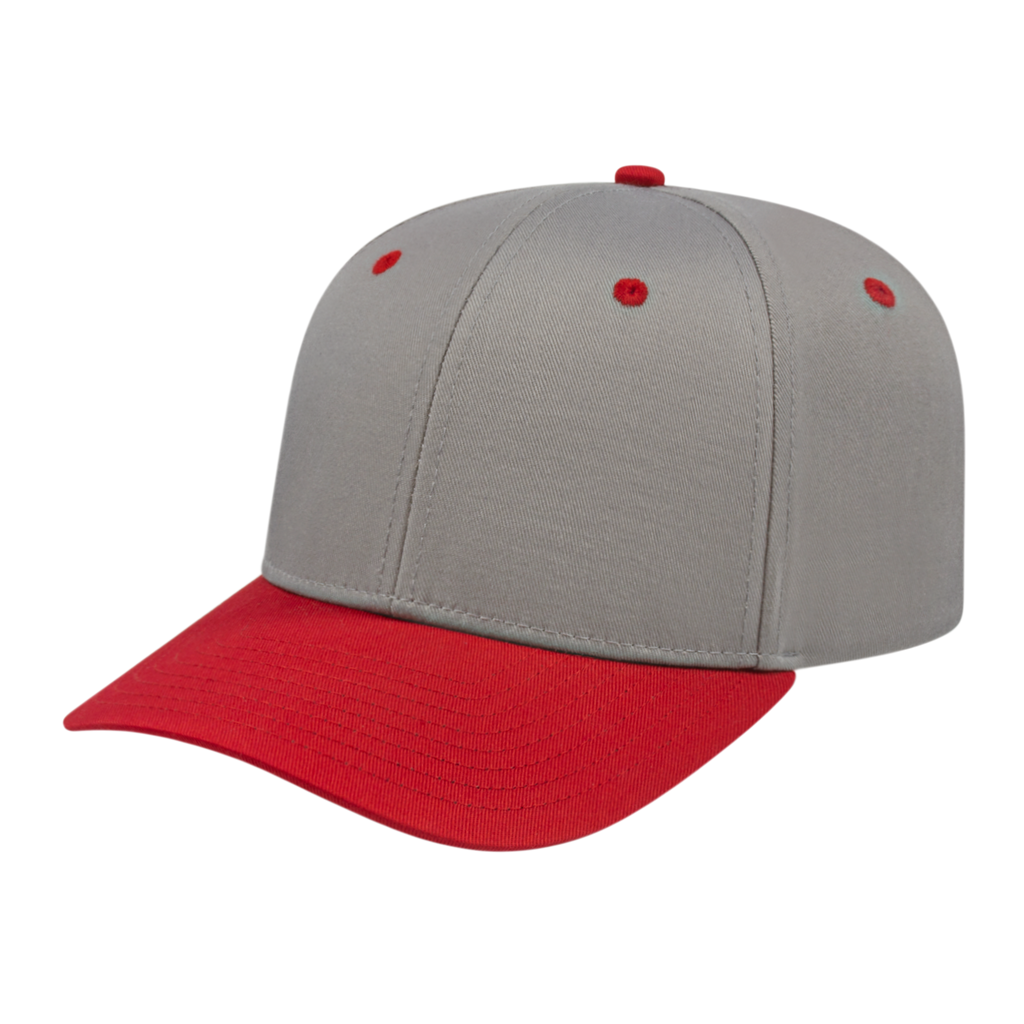 Cap America i8505 Original Poly/Cotton Snap Back Cap - Silver Red - HIT A Double