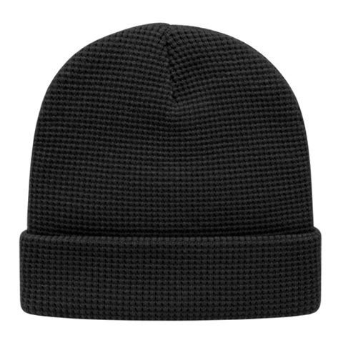 Cap America iK70 In Stock Waffle Knit Beanie with Cuff - Black