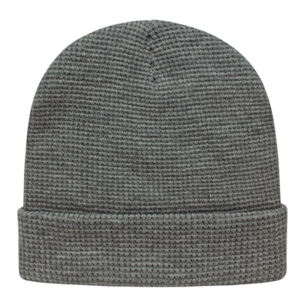 Cap America iK70 In Stock Waffle Knit Beanie with Cuff - Light Heather